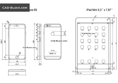dwg format iphone ipad mini and iphone 6s cad blocks free download