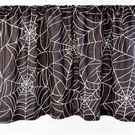 spider web curtains spider web print curtains gothic decor sin in linen