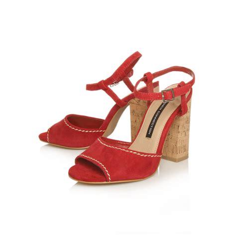 Mollie Laser Cut High Heels Import Sandal Heels Mollie Cut Madden Sale connection tibet block heel sandals in lyst