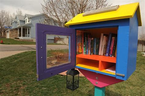 tiny library tiny libraries in front yards across colorado inspire of books canon city daily record