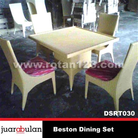 Meja Makan Anyaman harga jual beston dining set meja makan rotan sintetis