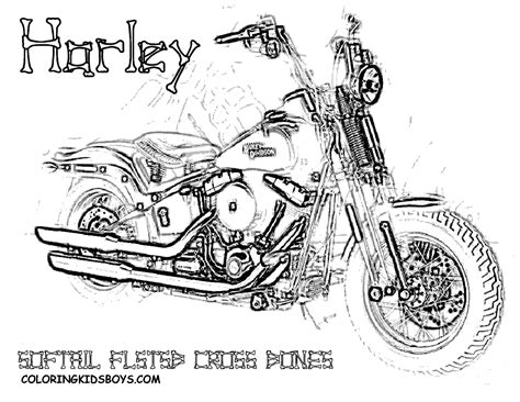 motorcycle coloring pages harley free coloring pages of harley softail