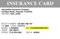 Florida Automobile Insurance Identification Card Template by Lookup Safety Recalls Service Caigns