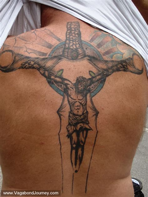 cross with writing tattoo jesus cross writing