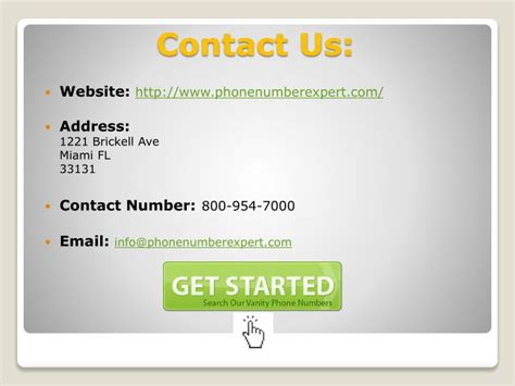 ppt get your own vanity phone number powerpoint