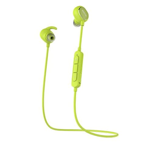 Earphone Bluetooth Qcy Qy19 With Mic Black qcy qy19 bluetooth 4 1 sport earphones with mic green