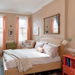 Light Blue And Coral Bedroom - heir and space peach rooms