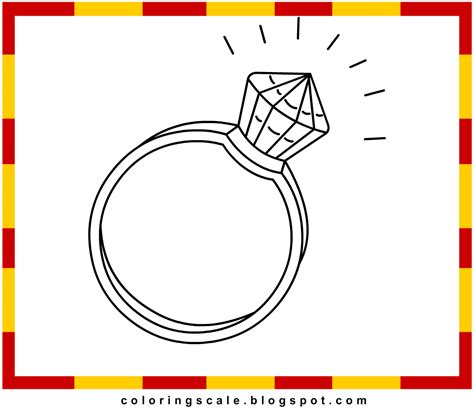 coloring pages printable for kids diamond ring coloring