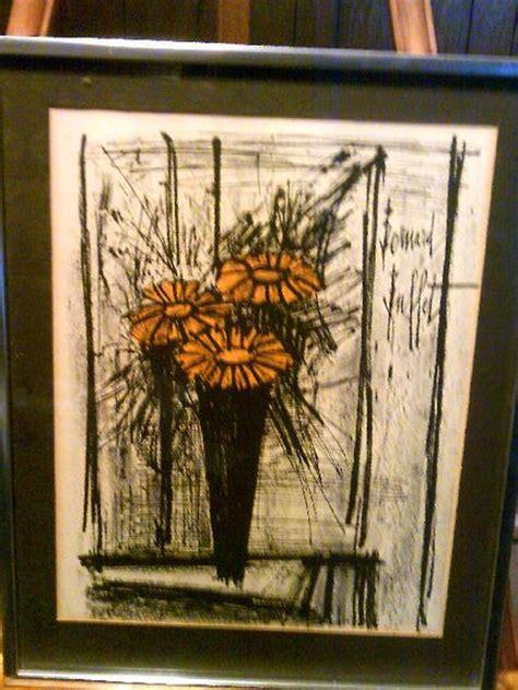 Bernard Buffet Flowers Lithograph Print Limited Prints Buffet Prints