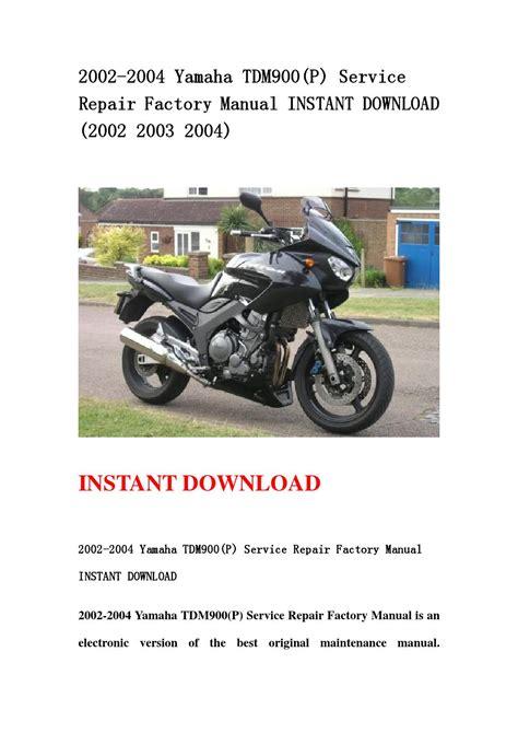 2002 2004 Yamaha Tdm900 P Service Repair Factory Manual