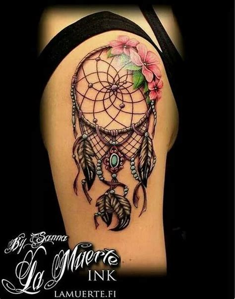 dreamcatcher tattoo with roses meaning 60 dreamcatcher tattoo designs 2017