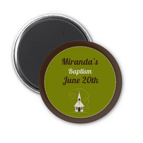 Magnet Giveaways - church personalized baptism christening magnet favors