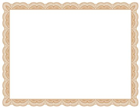 border templates for certificates free certificate border clipart clipartsgram