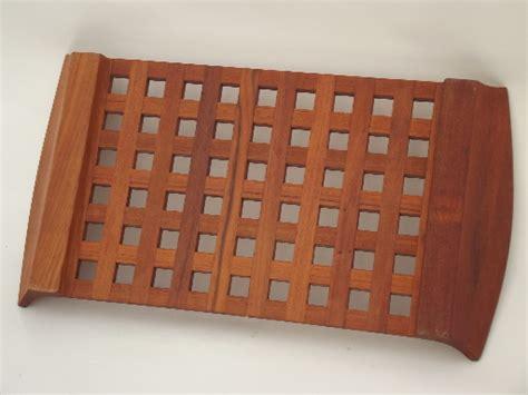 grid pattern wood jens quistgaard dansk teak wood grid serving tray vintage