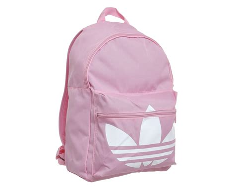 adidas classic trefoil backpack light pink adidas originals trefoil canvas backpack in pink lyst