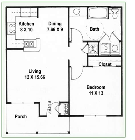 2 bedroom 1 bath floor plans single bedroom plans