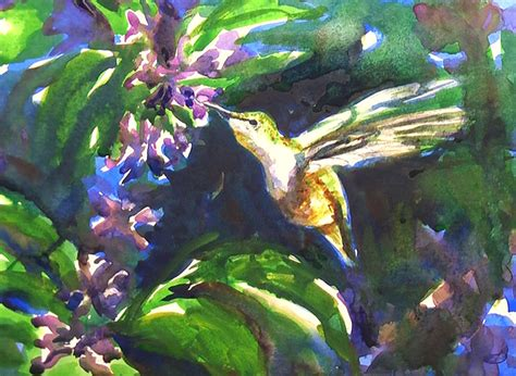 tutorial watercolor hummingbird how to paint a hummingbird watercolor painting tutorial