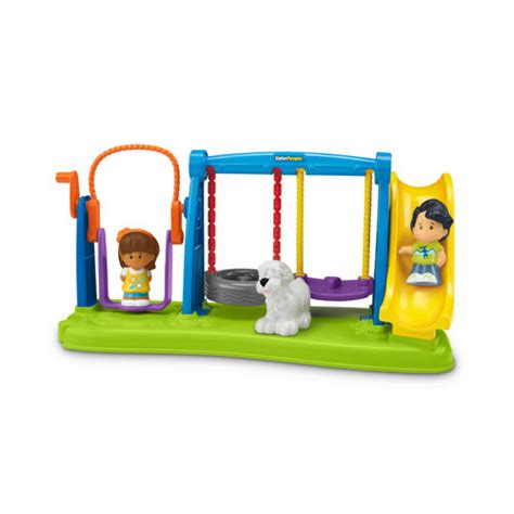 jump and swing set little people jump and play swing set playset fisher