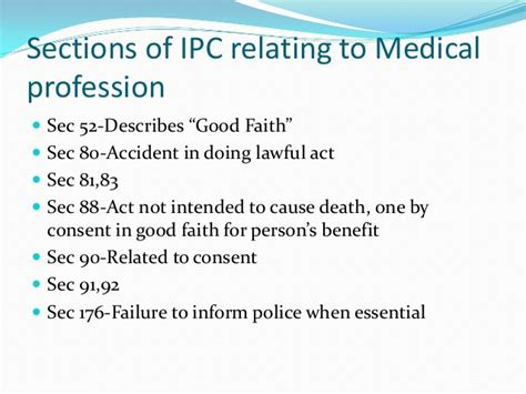 section 276 criminal code liabilities of doctors under indian penal code ipc ppt