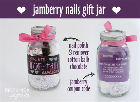 themed jamberry party ideas jamberry gift jar idea pigskins pigtails