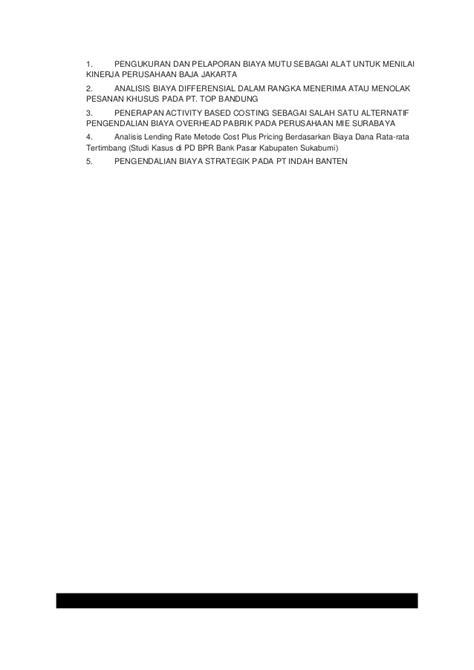 skripsi akuntansi biaya produksi akuntansi biaya