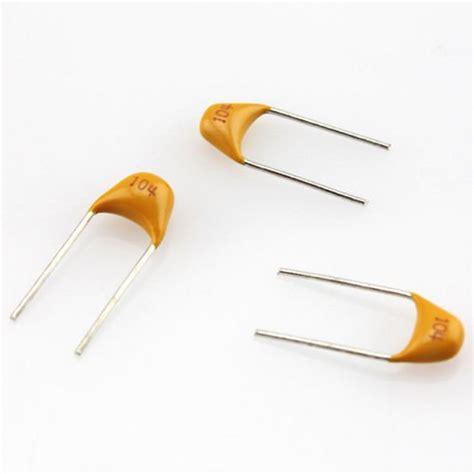 yellow capacitor 104 100 pcs new 0 1uf 50v monolithic ceramic chip capacitor 104 yellow cp ebay