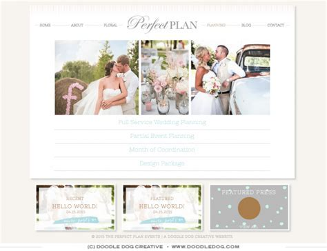 The Perfect Plan's Perfect New Wedding Planner Website