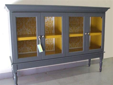 Yellow Buffet Cabinet Buffet Hutch With Glass Doors Furniture Pinterest