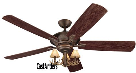Antler Ceiling Fan With Light Outdoor Lighting 60 Quot Cyclone 3 Light Antler Indoor Outdoor Ceiling Fan Rustic Lighting And