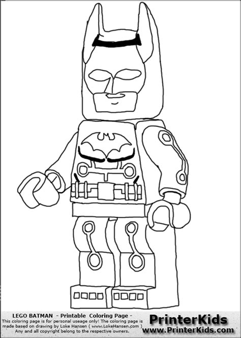 Free The Lego Batman Movie Coloring Pages, Download Free