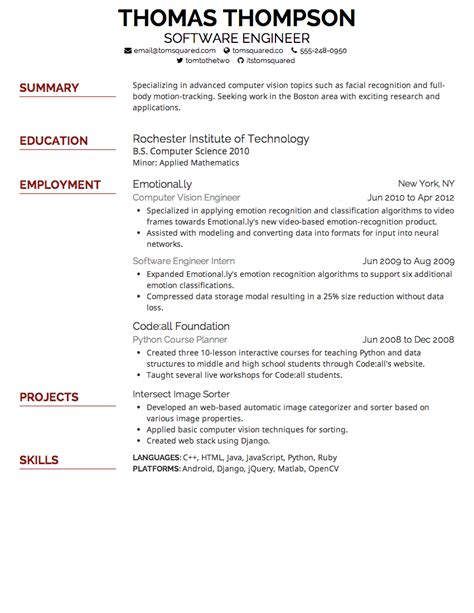 Resume Suggestions by Resume Font Size Suggestions Exle Template