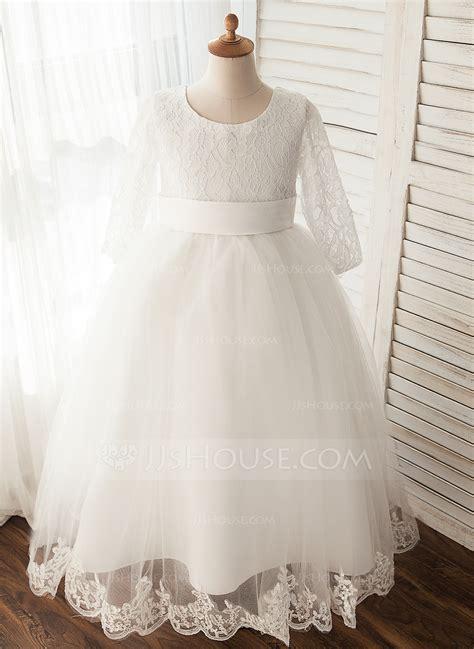 Robe De Mariée Marquise Manche Longue - robe marquise longueur mollet robes 224 fleurs pour filles