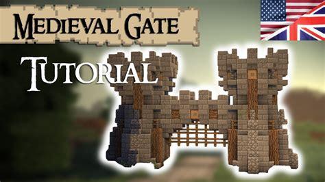minecraft tutorial medieval gate english youtube