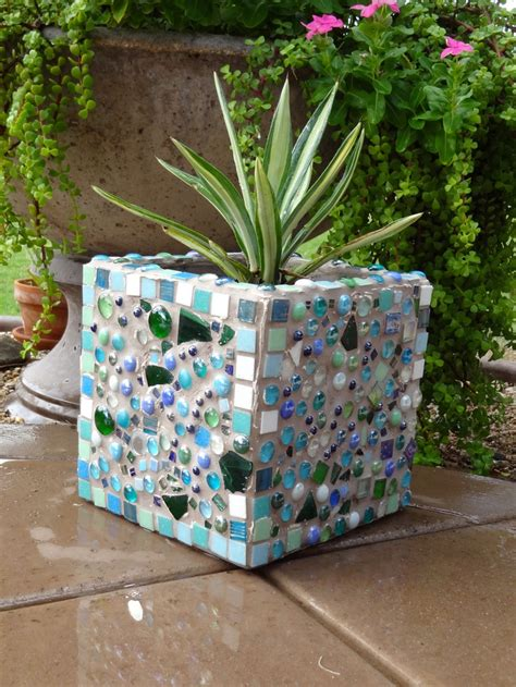 265 best mosaics flower pots planters images on