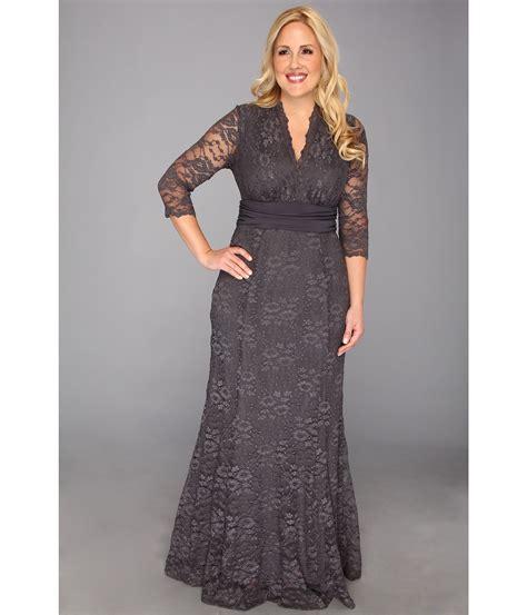 U Dress Grey Outner kiyonna screen siren lace gown charcoal grey zappos