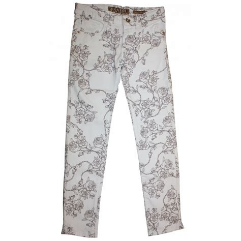 Cream Patterned Jeans | guess kids cream patterned jeans