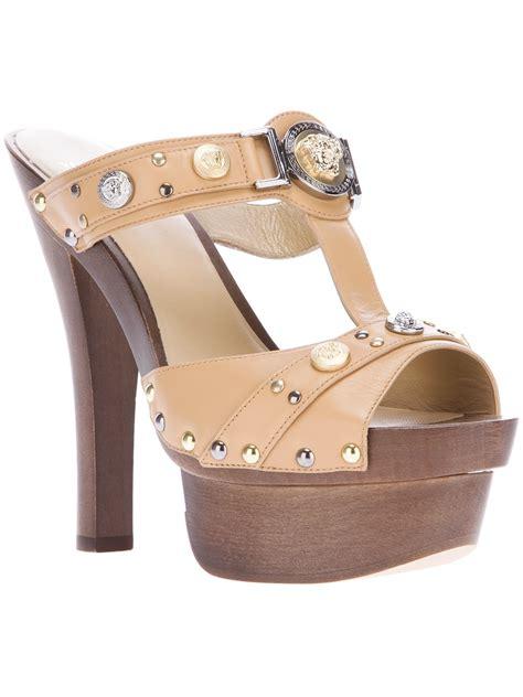 versace sandals versace platform sandal in brown beige lyst