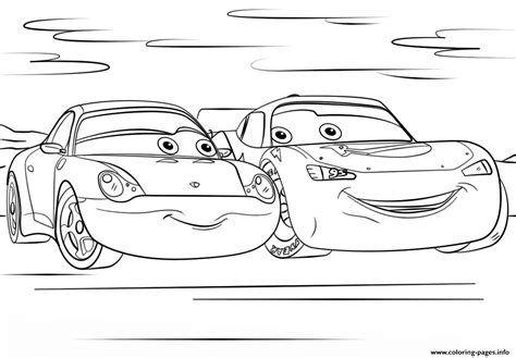 printable coloring pages cars 3 lightning mcqueen and sally from cars 3 disney coloring