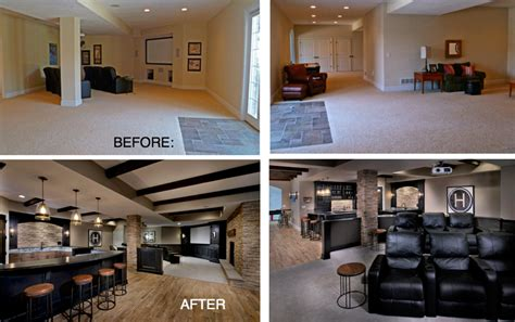 before and after basement renovations amazing check out