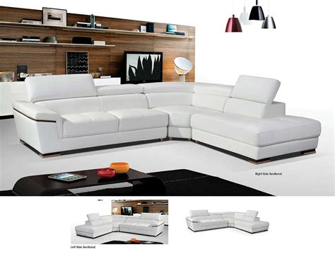 modern sectionals sofas modern white leather sectional sofa ef383 leather sectionals