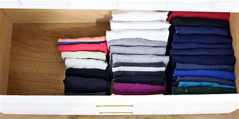 Folding Shirts For Drawers by How To Fold Clothes Vertically Konmari Organizing Method