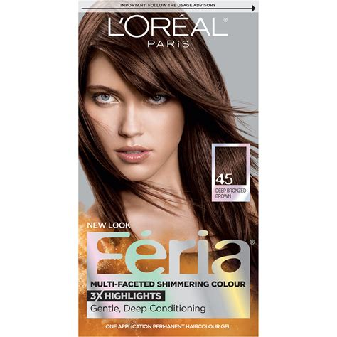 29 best images about loreal hair color on best hair chung and hair studio l oreal multi faceted shimmering colour 45 bronzed brown hair color 1 kt box
