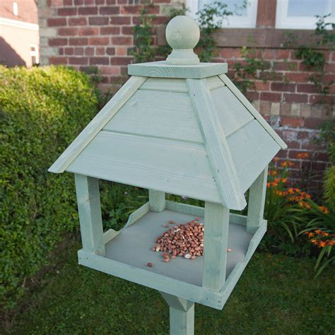 gardman kinross sage green fsc redwood bird table on sale