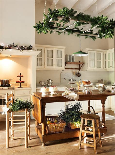 kitchen christmas decorating ideas cottage kitchens for christmas
