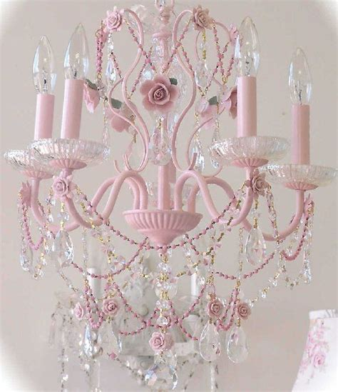 pink chandelier 17 best ideas about shabby chic chandelier on
