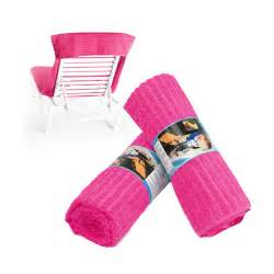 chaise lounge chair cover towel pink flambe