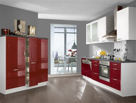 rote fliesen küche k 252 chenfronten hochglanz