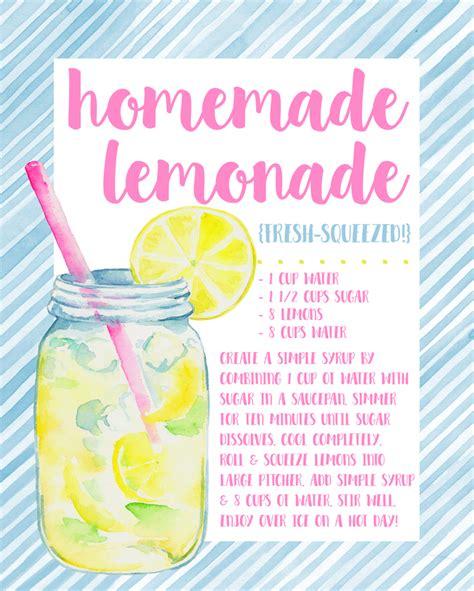 printable lemonade recipes i should be mopping the floor free decorative recipe