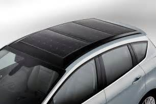 Electric Vehicles With Solar Panels Ford C Max Solar Energi Concept Using The Sun To Charge