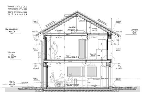 Plan De Coupe De Maison 2196 by Architecte Maison Bois